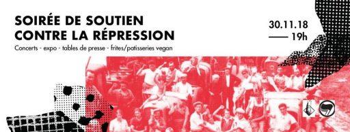 Soirée de solidarité contre la répression ! [2018] @ Centre Autonome Jeune Molodoï | Strasbourg | Grand Est | France