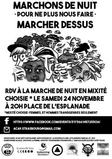 Manifestations féministes contre les violences sexistes et sexuelles
